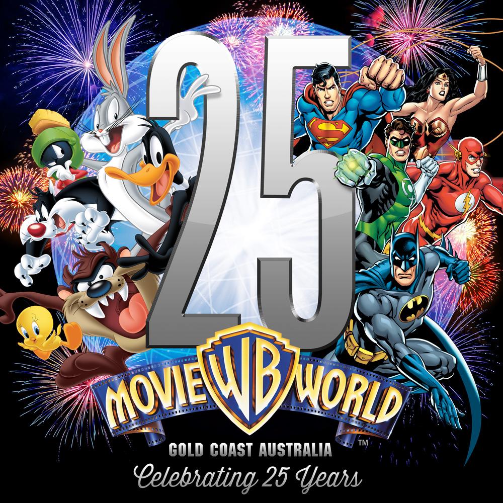 warner bros movie world celebrates 25 years of movie