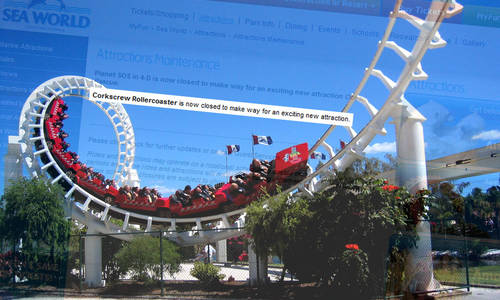 Sea World Corkscrew replaced by new attraction
