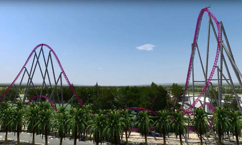 This Movie World hypercoaster rendering is cool... but it's not real