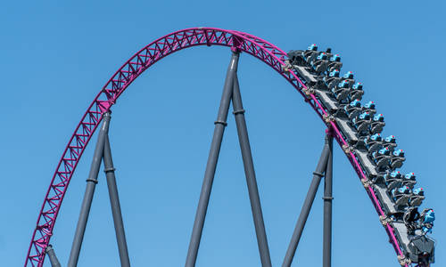 First cycles on Movie World's DC Rivals HyperCoaster get fans buzzing