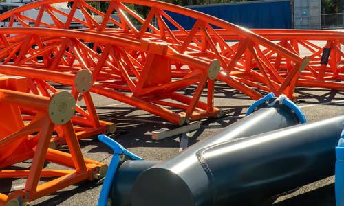 Orange roller coaster track arrives at Dreamworld
