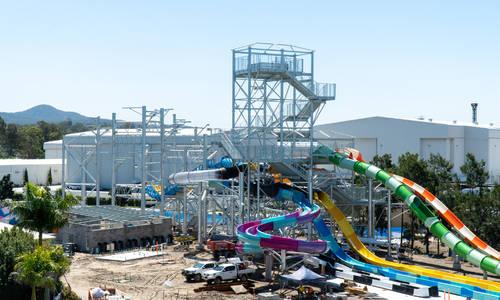 Construction flies ahead on Wet'n'Wild's newest water slides