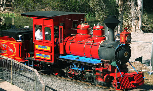 Steam train back for monthly outings at Dreamworld