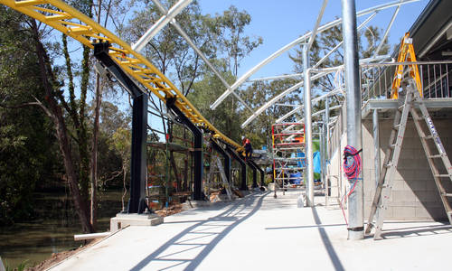 A sneak preview of Dreamworld's Motocoaster