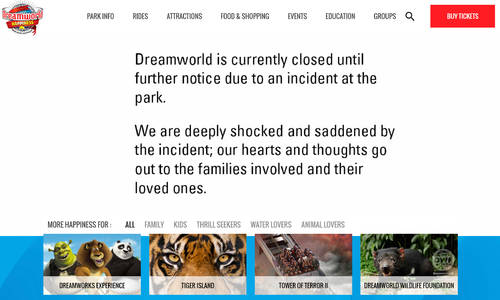 Dreamworld closed until further notice following fatal incident