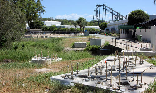 Movie World prepares site for roller coaster construction