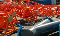 Orange roller coaster track arrives at Dreamworld