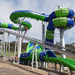 The construction of Funfields' record breaking Gravity Wave water slide