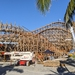 Leviathan wooden roller coaster nears completion at Sea World