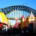 Birds-eye view of Luna Park in Sydney