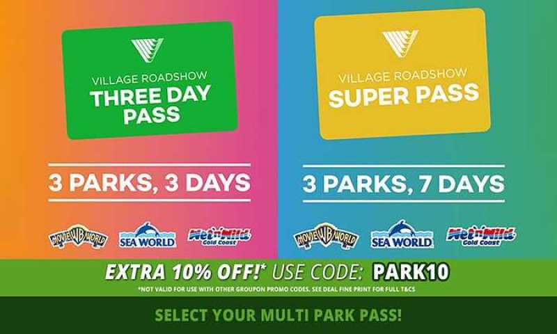 3 and 7 Day 3-Park Passes