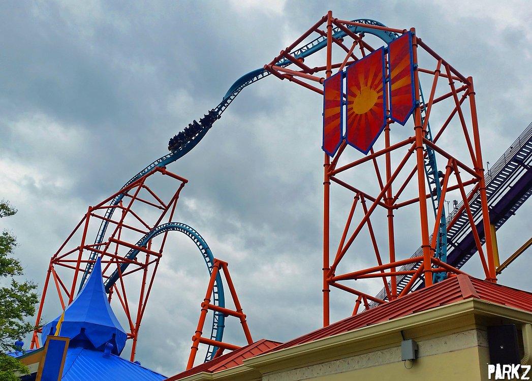 Tempesto Roller Coaster At Busch Gardens Williamsburg Parkz Theme Parks