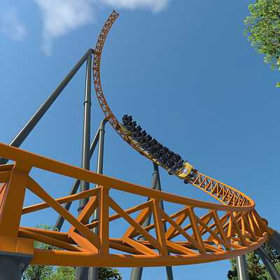 Dreamworld 'Blue Fire' Coaster
