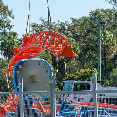 Launched roller coaster construction