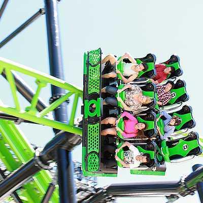Green Lantern Coaster Roller Coaster At Warner Bros Movie World